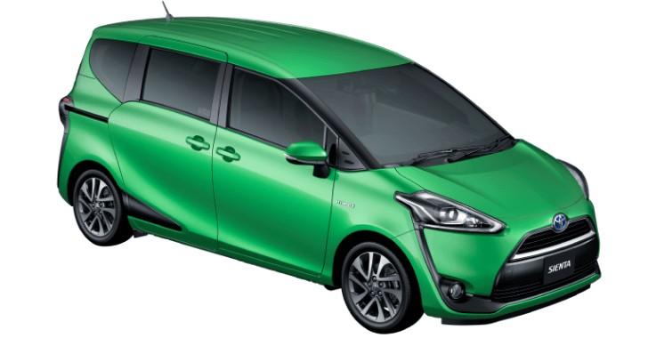新型トヨタシエンタボディカラーグリーンマイカメタリック