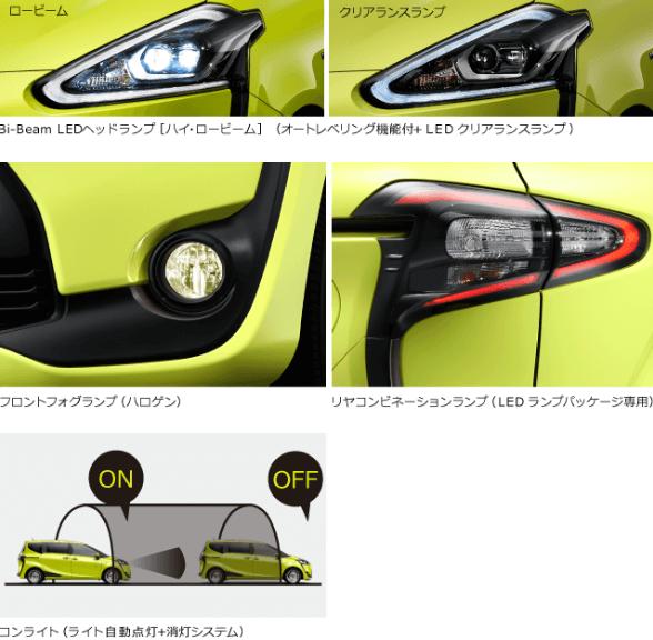 シエンタオプション LEDランプパッケージ