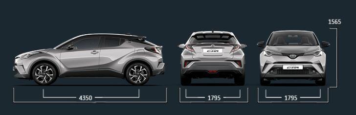 トヨタC-HRのボディサイズ