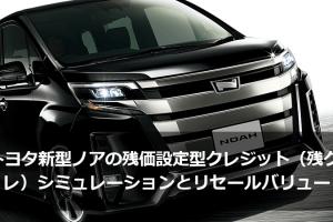 トヨタ新型ノアの残価設定型クレジット(残クレ)シミュレーションとリセールバリュー
