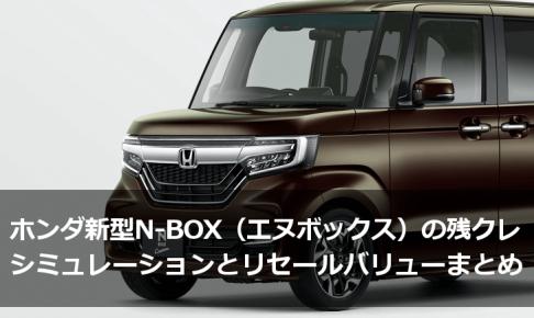 ホンダ新型N-BOX(エヌボックス)の残クレシミュレーションとリセールバリュー