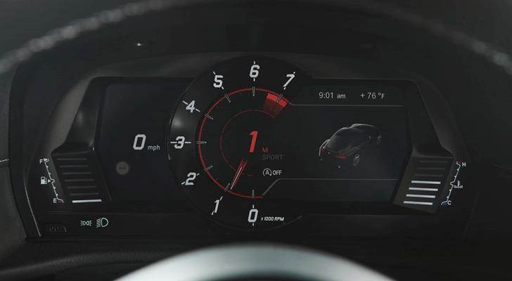 トヨタ新型スープラのタコメーター