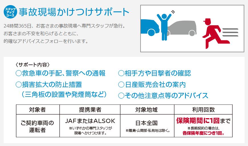 日産カーライフ保険プラン(ニカホ)の特典⑦:事故現場駆け付けサービス