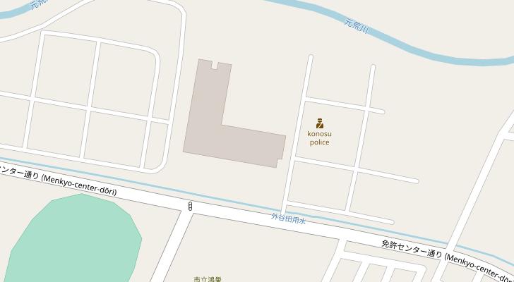 鴻巣免許センター周辺地図