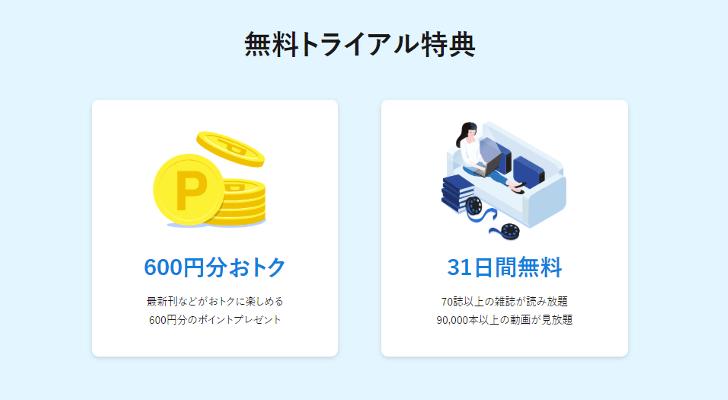 U-NEXTのキャンペーン
