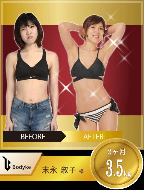 Bodyke(ボディーク)のトレーニング成果事例①
